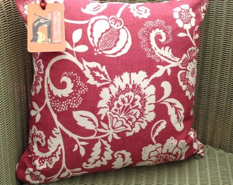Clarke and Clarke Eliza in Raspberry, Cushion with Pad