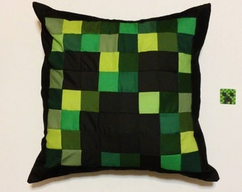 "Creeper Minecraft Inspired Pillow (20""x20"")"
