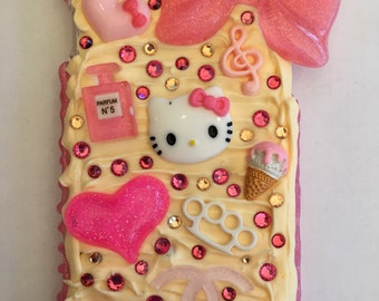 Iphone 6s peach and pink kitty decoden case