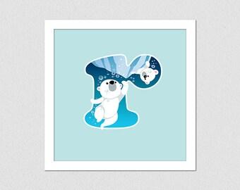 Animal Alphabet Letter R Polar Bears