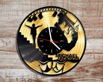 Michael jackson vinyl wall clock. Gold record