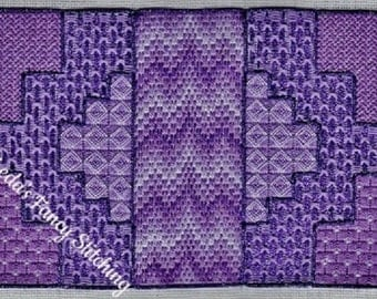 Try a Different Stitch 3 - A canvaswork chart for 24 count congress cloth. Includes instructions. Downloadable pdf file.