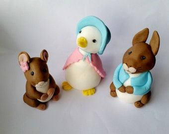beatrix potter cake toppers peter rabbit edible personalised decoration