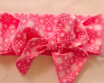 Headwrap, Baby headwrap, Hot pink headwrap
