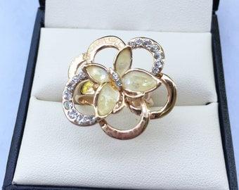 Mystery flower Peruvian Ring