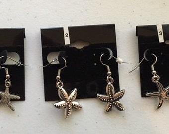 Starfish Theme Earrings