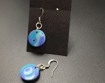 Earrings, Polymer clay, Sterling Silver