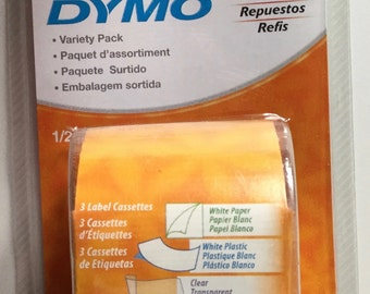 Variety Pack DYMO® Label Tape for LetraTag Labelers - 3 Pack