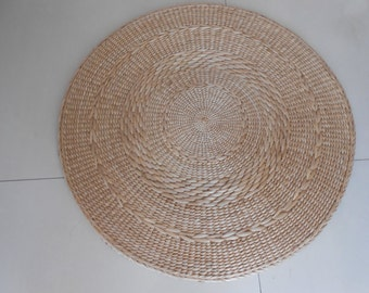 Round Straw Floor Pillows : Round floor cushion/straw pouf/floor pouf/footstool/floor