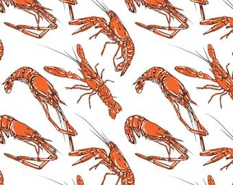 80% Off Sale Vintage Shrimp pattern including seamless. Vintage seafood vector illustration. Great for menu. (EPS, JPG)