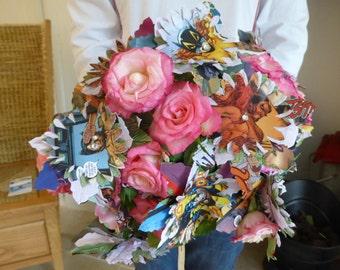 Paper Comic Gerbera Wedding  Bouquet