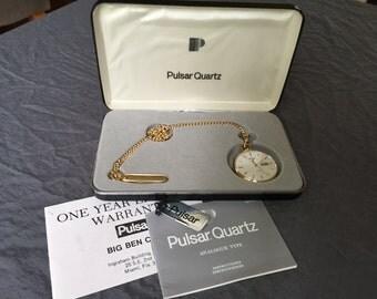 Pulsar Quartz Pocket Watch
