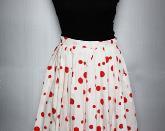 Skater polka dot skirt