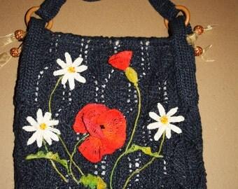 """Bag jute """"summer bouquet"""""""