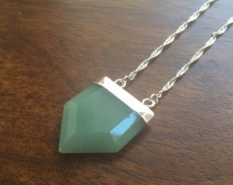 Aventurine Natural Crystal Point Necklace- The Creative One