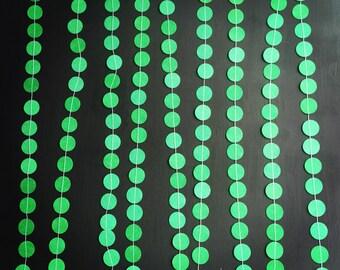 Dark Green Paper Garland