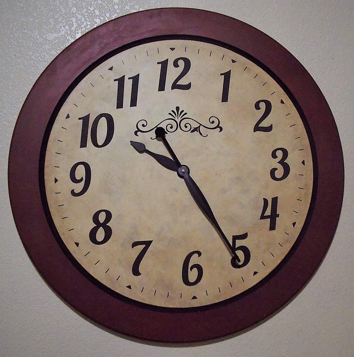 30 inch framed large wall clock. Black Bedroom Furniture Sets. Home Design Ideas