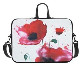 """Poppies Laptop Bag 14"""" or 17"""""""