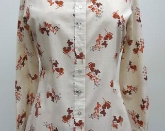 70s Shirt Butterfly Design