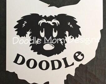 Ohio Doodle Car Magnet