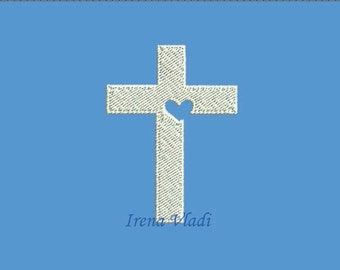 Christian Cross - Machine Embroidery design 4x4hoop - 3 sizes, Cross Embroidery, Cross Emroidery design, Religious Embroidery, Church Cross