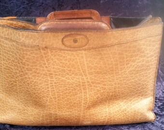 Vintage Caracciola Pfeil Leather Portfolio Zipper Soft Leather Briefcase