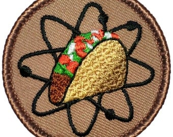 Atomic Taco Patch (426) 2 Inch Diameter Embroidered Patch