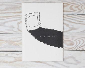 Fill me up - A5 sketchbook