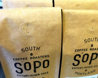 FREE SHIPPING SoPo Micro-Roasted Coffee of the Week 12-ounce Bag