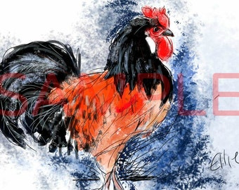 Rooster - A3 print