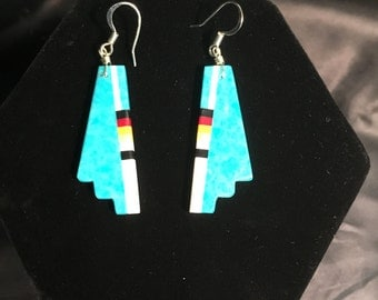 Authentic Navajo Turquoise Earrings