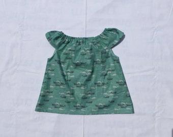 Narwhal Flutter Sleeve Shirt