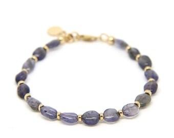 Iolite gemstone bracelet