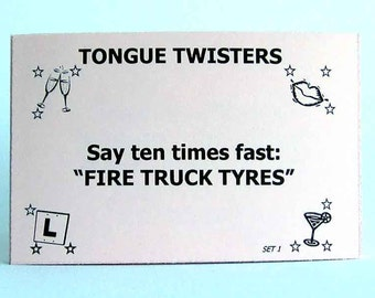 20 Rude Tongue Twisters game cards