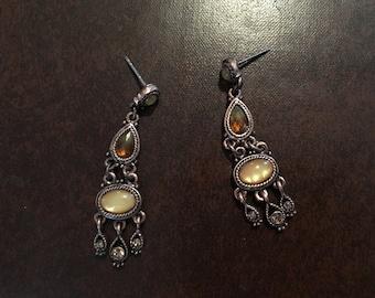 Very nice vintage copper pierced earrings