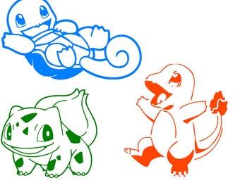 Pokemon Character Stickers