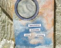 Beautiful Dreamer (pastel small painting moon inspirational)