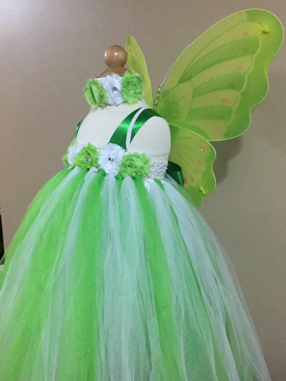 Tinkerbell Tulle Dress [E10190947033619158M] - $43.99 : Zonestars.top