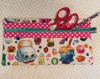 Zipper pouch, pencil case, pencil pouch, flat zipper pouch, make-up bag, cosmetics bag