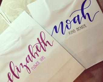 Personalized Gift Bag, Flower Girl, Ring Bearer