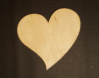 Heart shaped Birch plywood (set of 2)