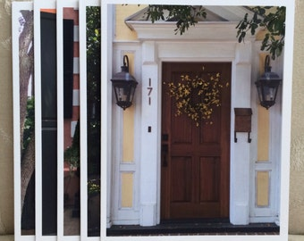 LowCountryNoteCards Doors of Charleston#2 Stationery Historic Charm