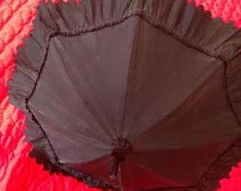 1870's Civil War era child's mourning parasol