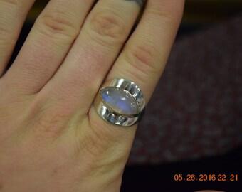 Rainbow Moonstone Sterling Ring