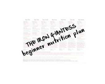 Beginner's Nutritional Plan