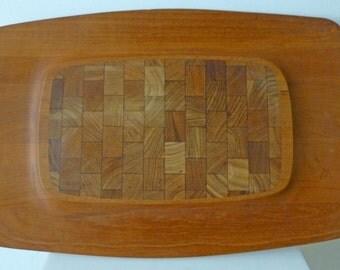 Mid Century Modern Dansk Teak Cutting Board Tray 4 Ducks mark Jens Quistgaard