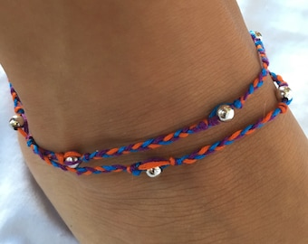 Double-Wrapped Anklet with Beads