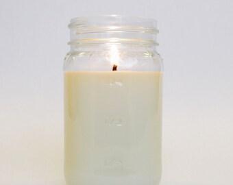 Mason Jar Candle - Unscented Soy