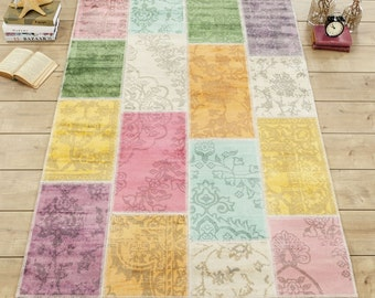 Patchwork carpet kids 130 x 190