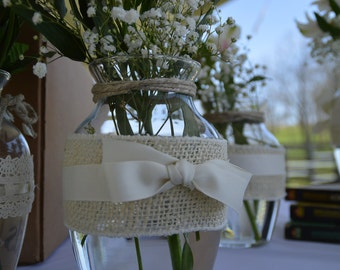 Country Wedding Vase